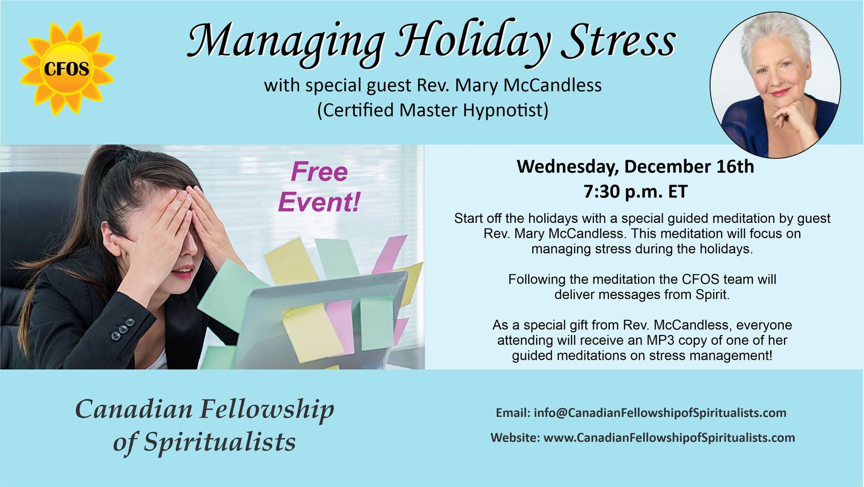 Managing Holiday Stress Meditation