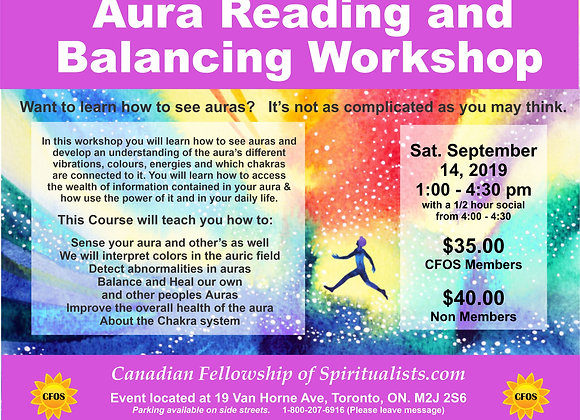 Aura Reading and Balancing Workshop