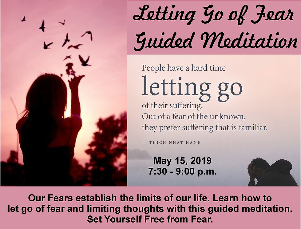 Letting go of fear meditation flyer 1 a.