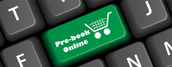 Shop Online b with words prebook online.