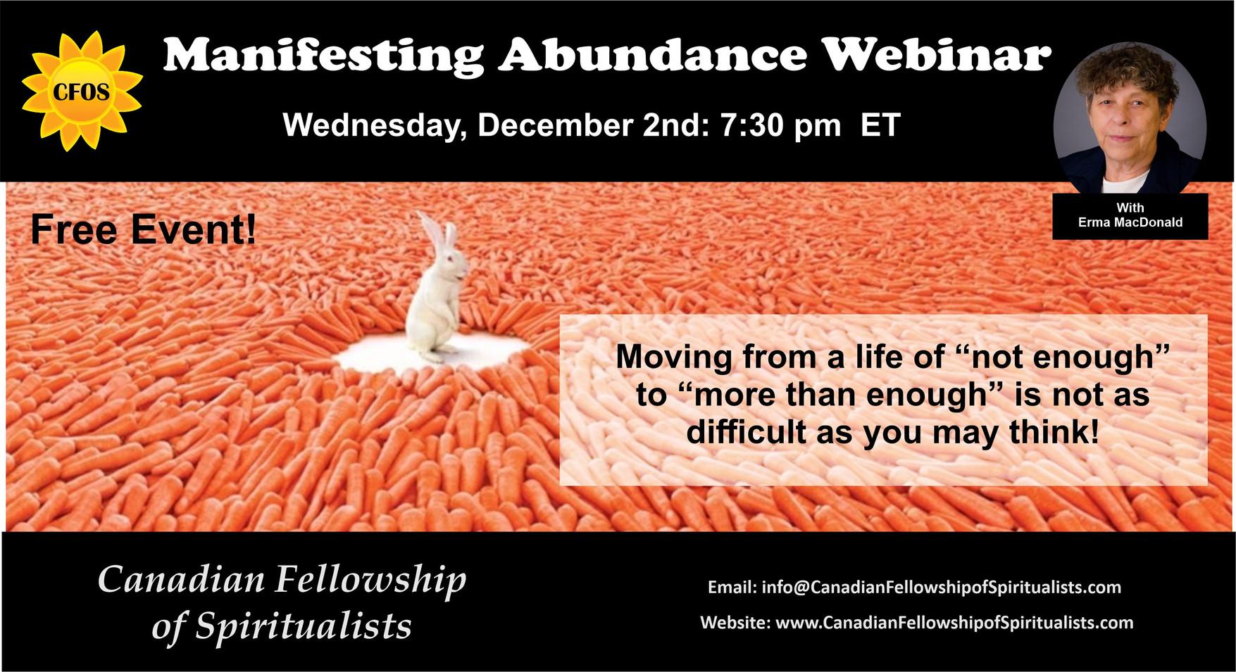 Manifesting Abundance Webinar