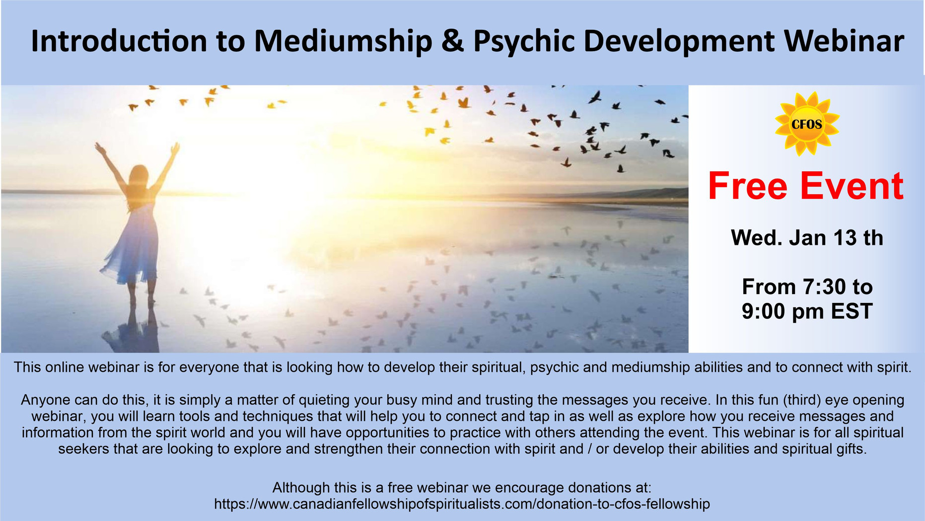 Webinar Intro to Mediumship & Psychic