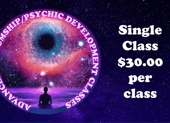 Single Class for the Advanced Mediumship and Psychic Development Classes