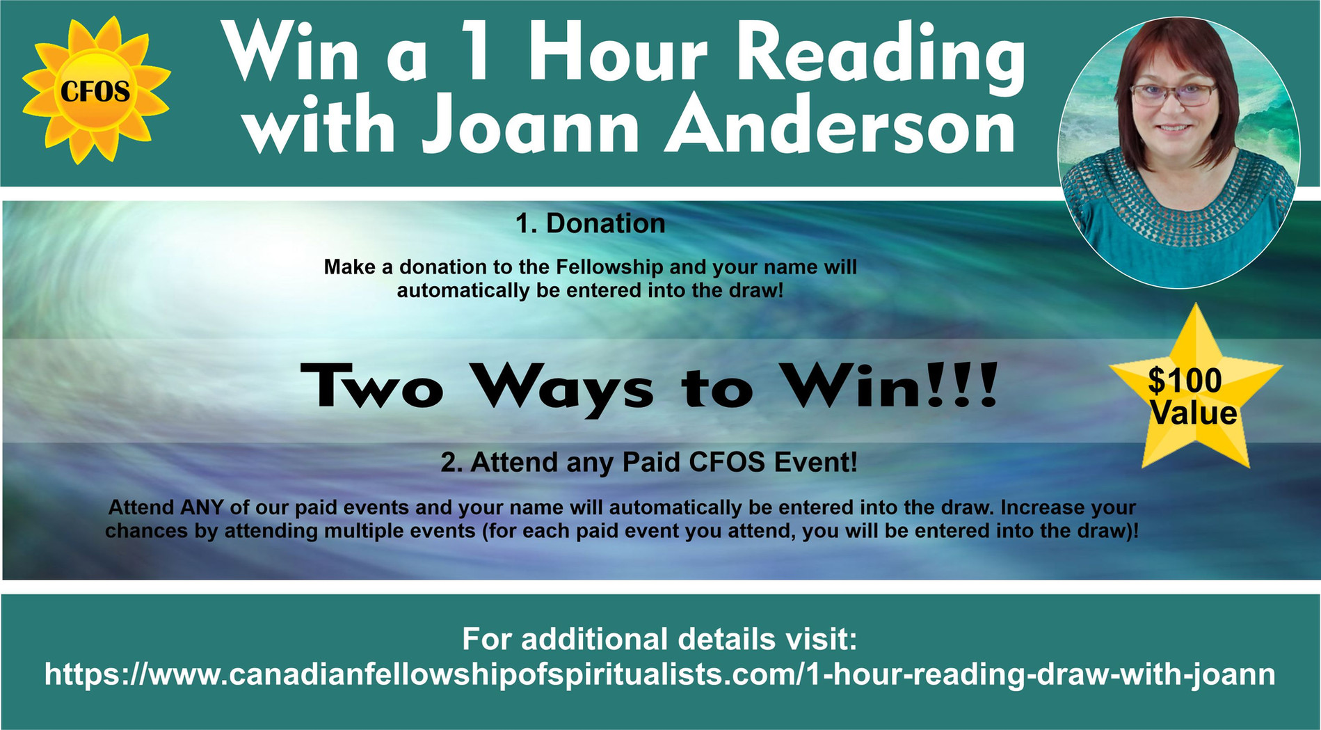 Win a 1 Hour Reading Draw