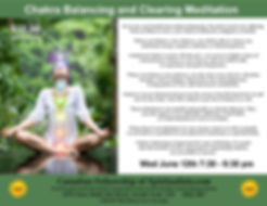 Chakra Clearing Meditation flyer with wr