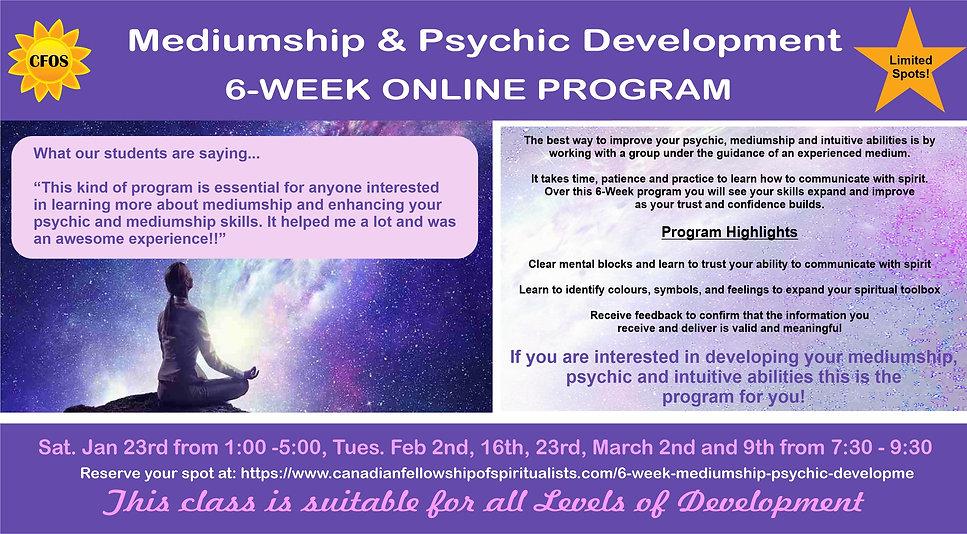 6 week Development program Jan to Feb 20