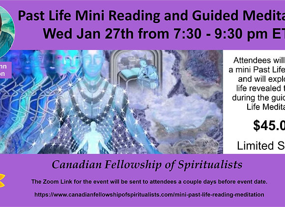 Past Life Reading and Guided Meditation