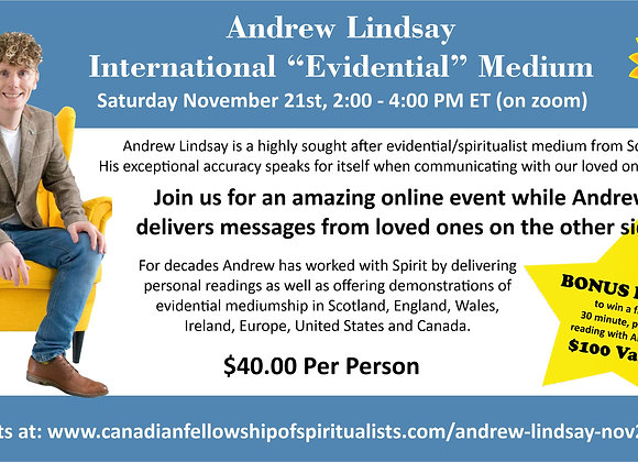 Afternoon of Messages with International Medium Andrew Lindsay