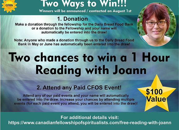 1 Hour Reading Draw with Joann Anderson