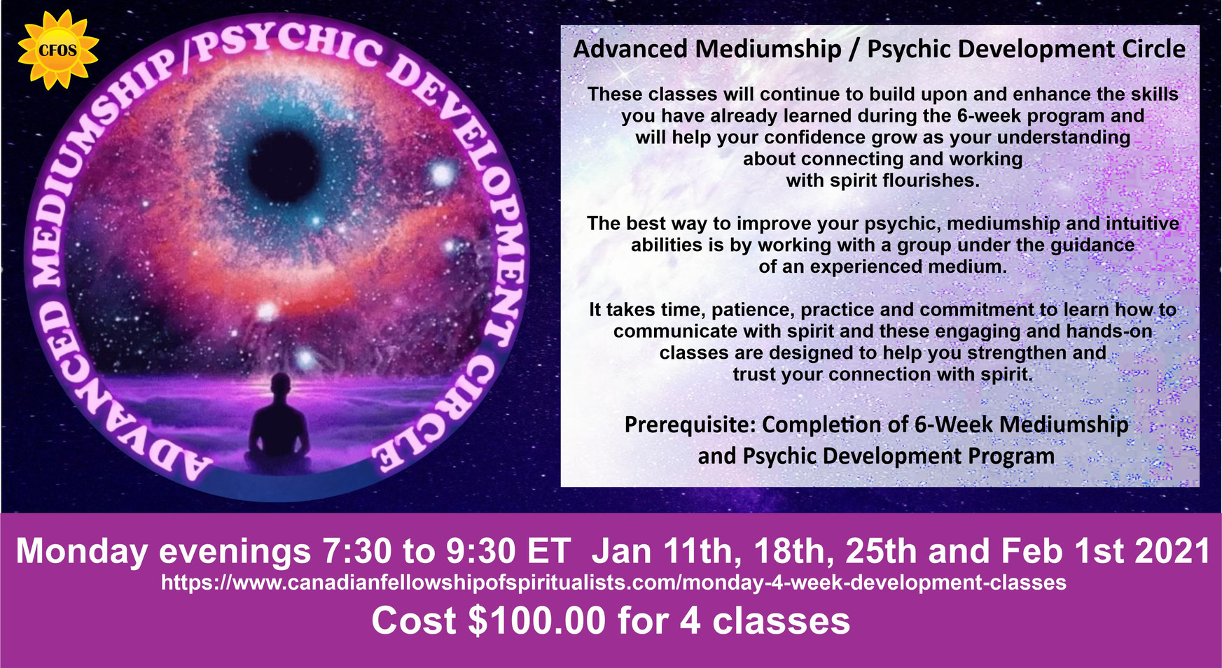 4-Week Mediumship & Psychic Development Class