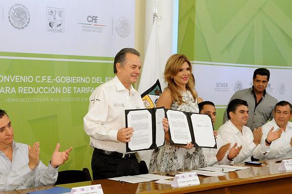 Logra gobernadora gestionar reducción en tarifas eléctricas para Sonora