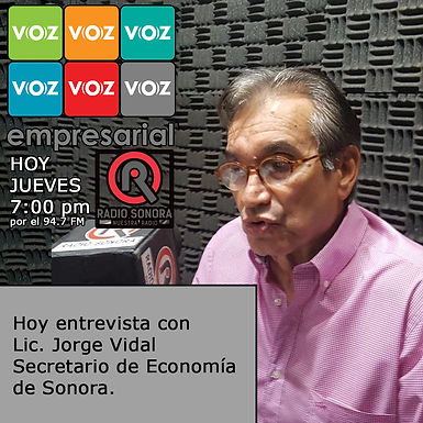 Sonora de la lona al top 5 del país en crecimiento económico: Jorge Vidal