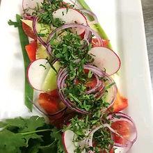 Микс-салат из свежих овощей