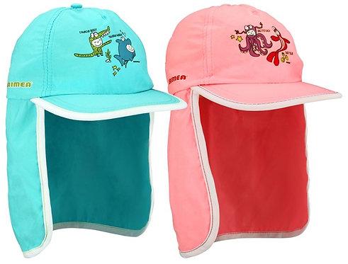 Waimea® UV SUN CAP JUNIOR WITH NECK FLAP • PRINT •