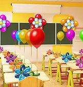 Оформление шарами 1 сентября