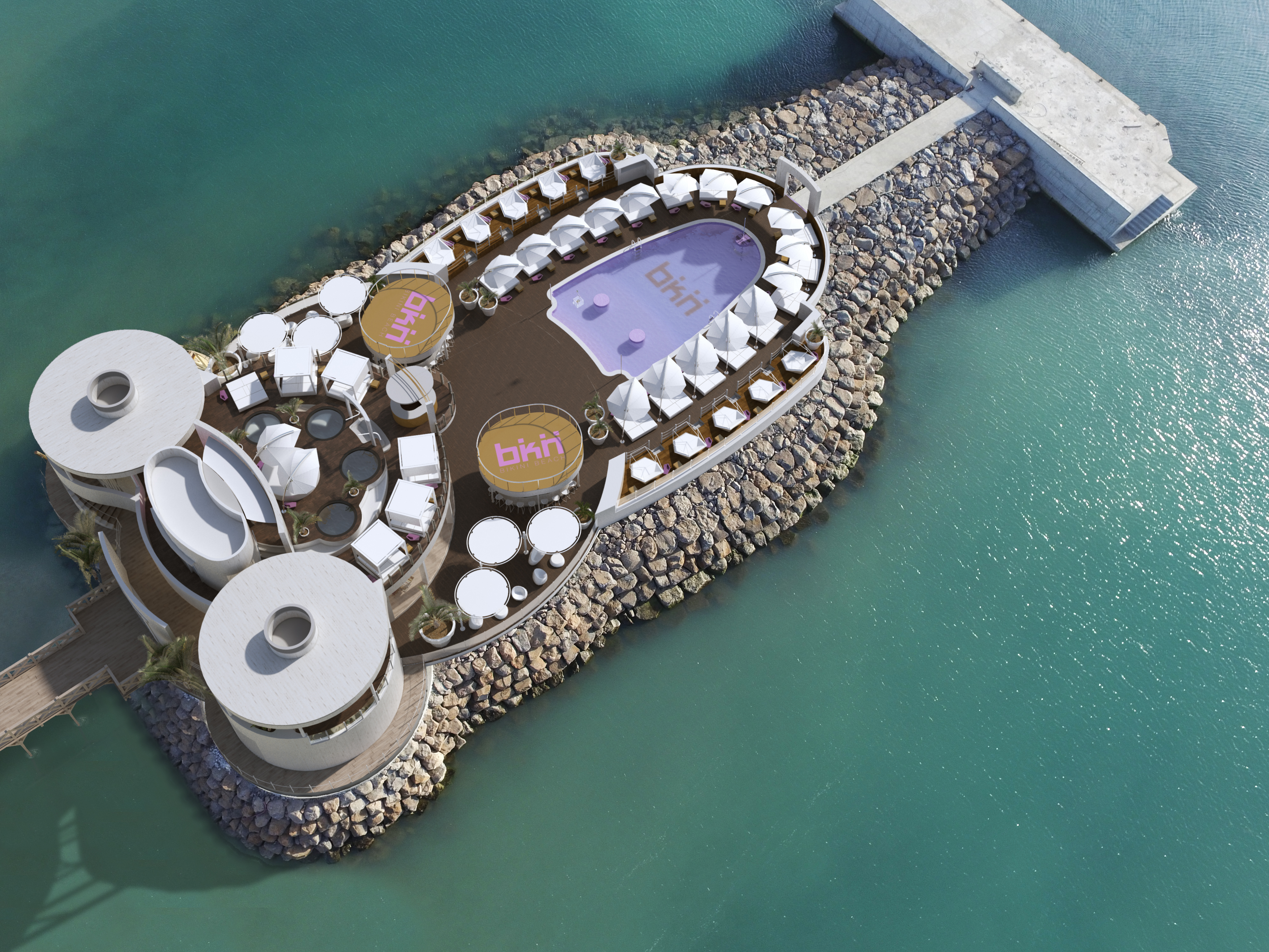 BEACH CLUB AERIAL VIEW
