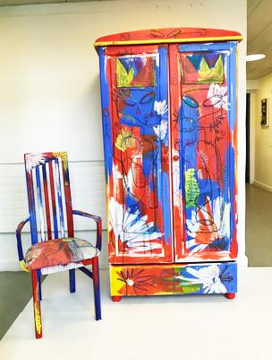 Skye Williams - Wardrobe and chair