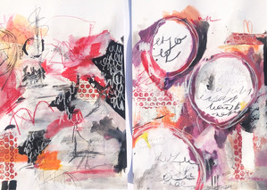 Lucie Bellingham - Diptych in pink