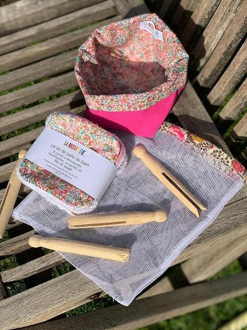 Kit  lingettes lavables en bambou