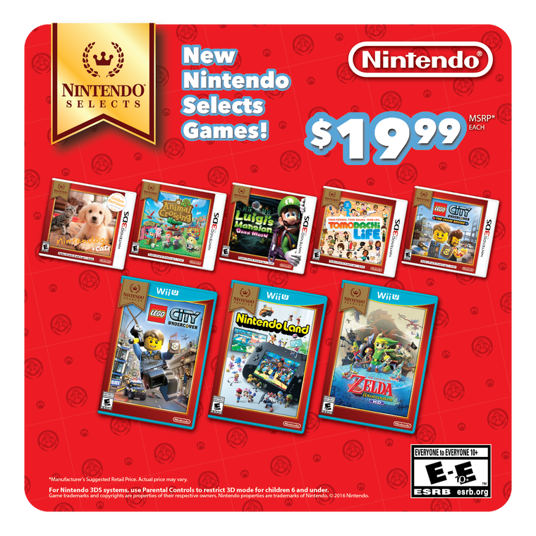 More Titles To Join Nintendo Selects & New Nintendo 3DS Bundle Announced
