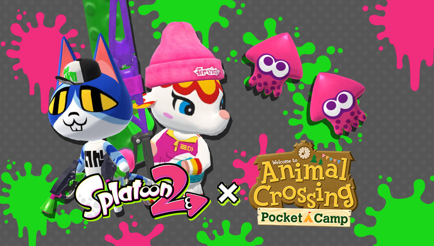 Animal Crossing Pocket Camp X Splatoon 2