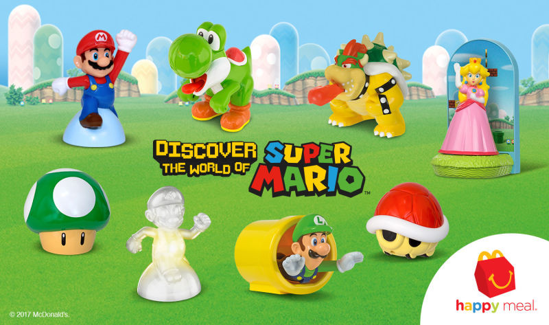 Super Mario Happy Meal Toys Are Now Available At McDonald's