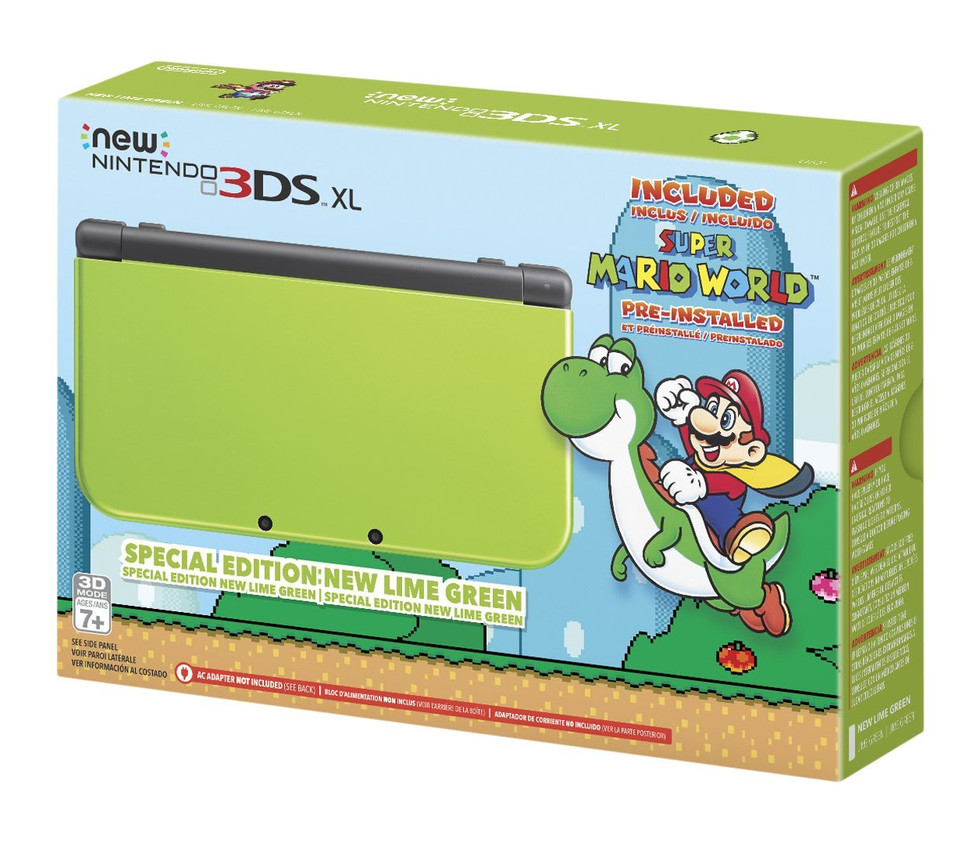 Amazon Exclusive: New 3DS Lime Green + Super Mario World Bundle