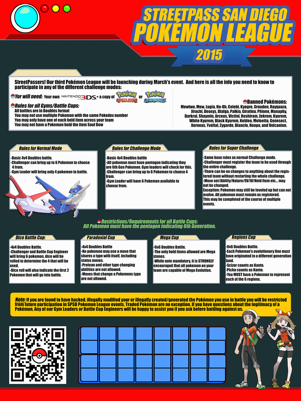 StreetPass San Diego Pokémon League 2015