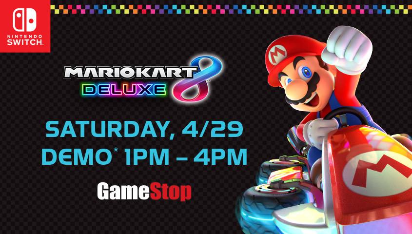 Mario Kart 8 Demo Event at GameStop