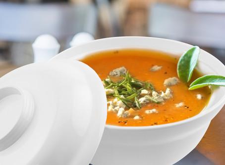 Creme de Cenoura com Gorgonzola