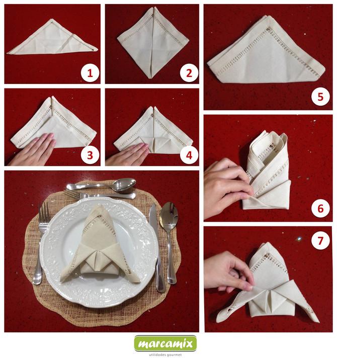 Prepare uma mesa mais bonita e charmosa utilizando guardanapos de tecido!