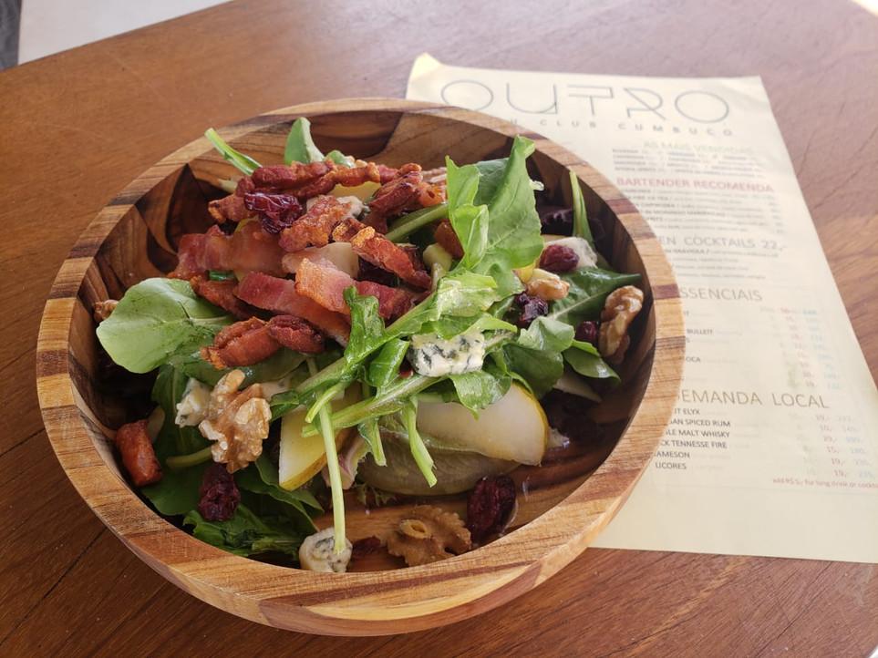 WALDORF salad with pork belly