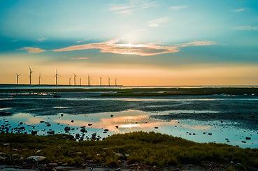 Sillouette of Wind Turbine