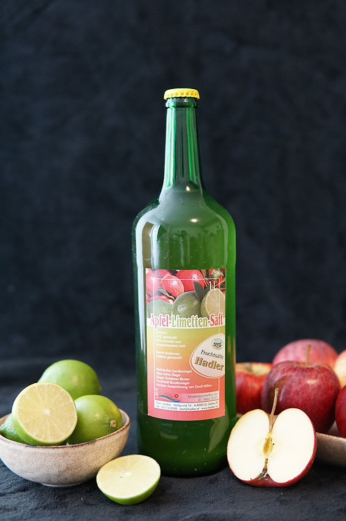 Apfel-Limetten-Saft 1L
