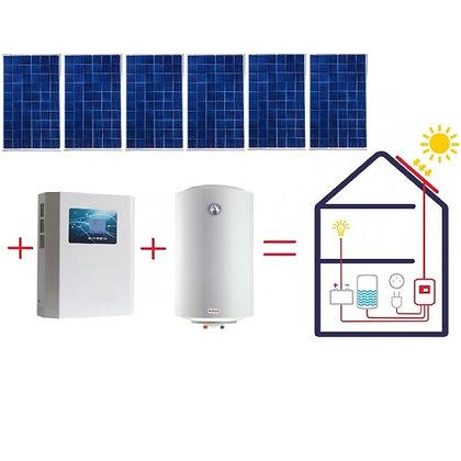 Sistem fotovoltaic de producție a apei calde, Combinat