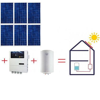 Sistem fotovoltaic de producție a apei calde, Autonom