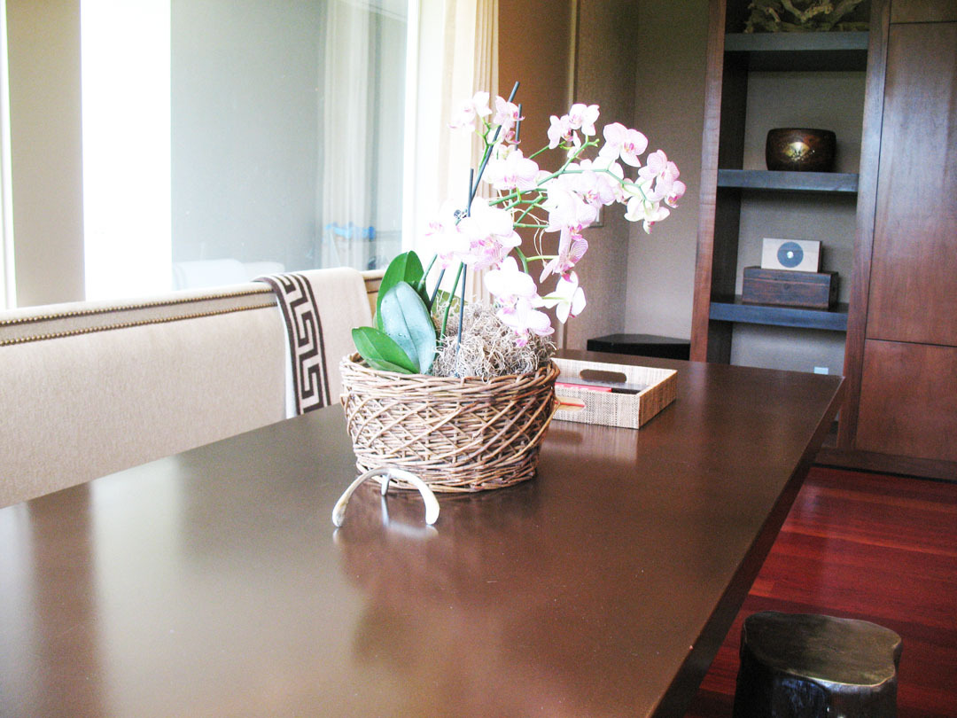 Bronze finish metal top table