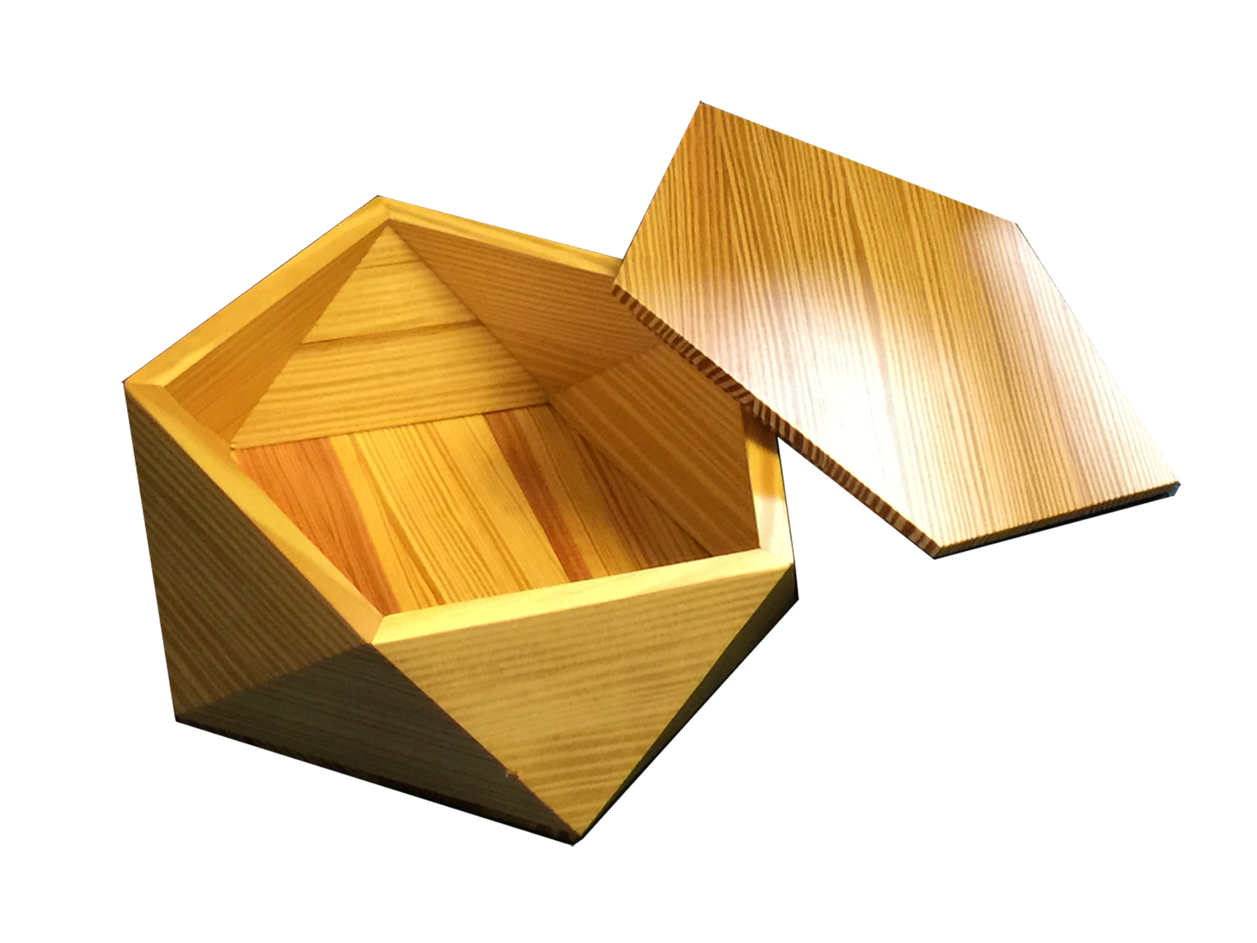 Pentagonal Box - Reclaimed Fir