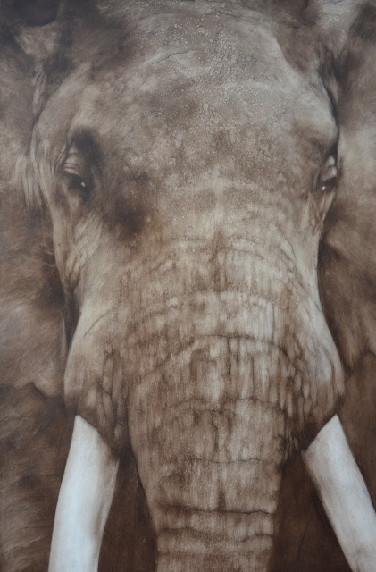 Elephant 4 ,2015,oil on board 136cmx90cm (421x640)