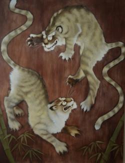 Japanese tiger panel