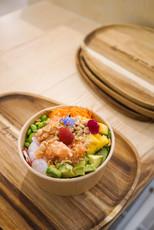 Poké bowls produits frais locaux et respectueux de l'environnement