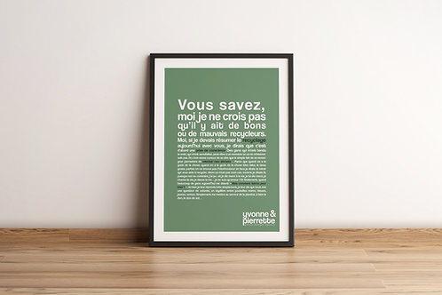 Affiche - Recyclage (29,7x42)