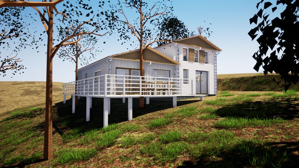 Rénovation et extension d'un bungalow