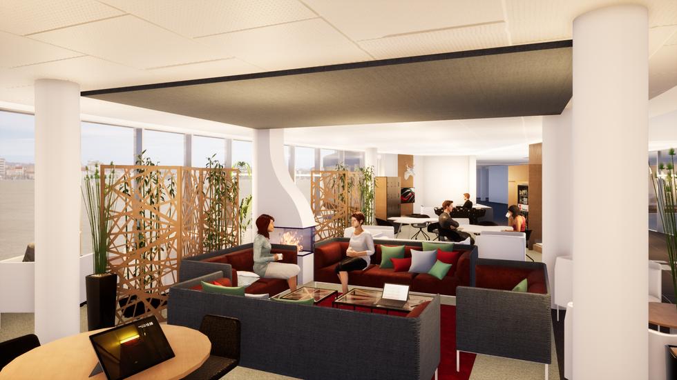 Aménagement d'un espace coworking, d'attente - Détails Architecture