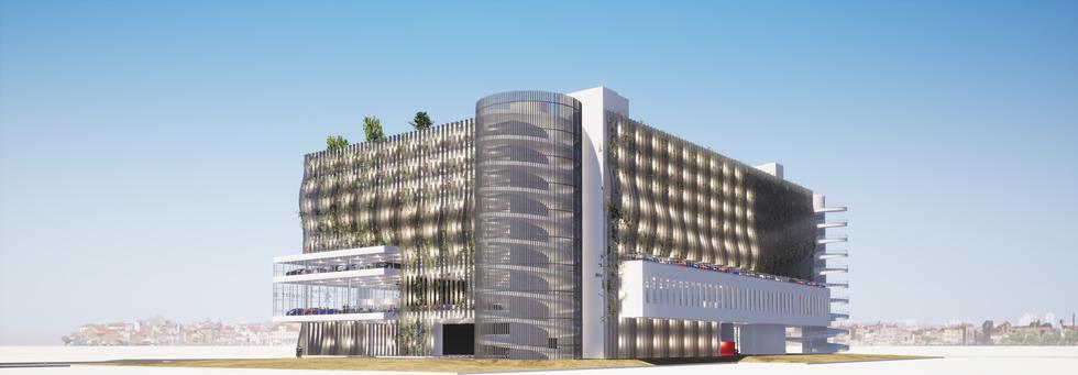 Construction d'une concession automobile - Détails Architecture