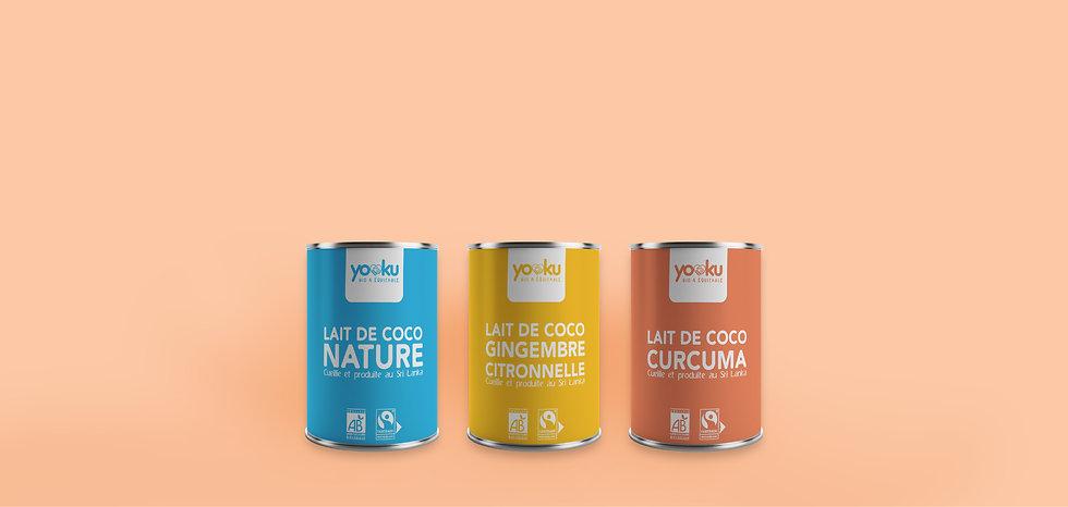 Yooku bio équitable lait de coco