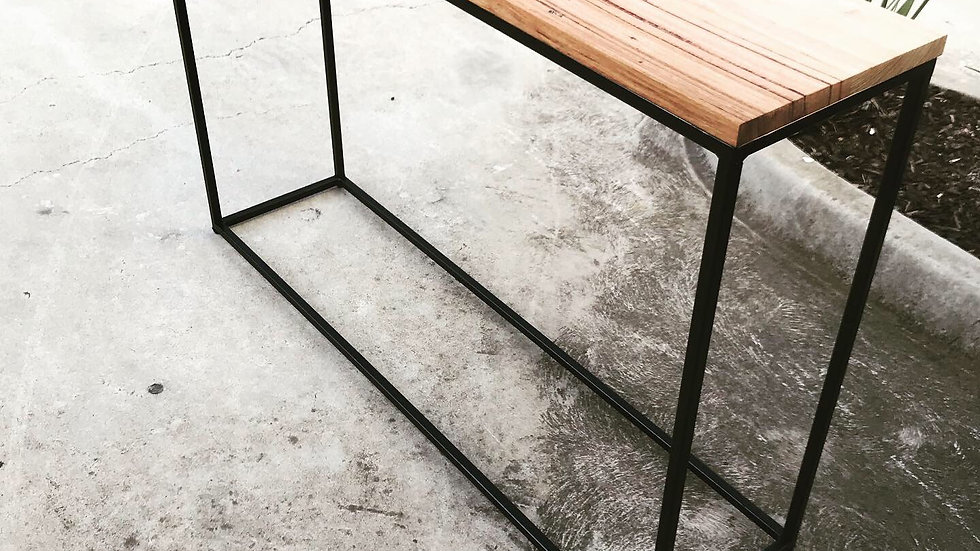 Handmade messmate hallway table.