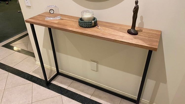 Wonderful handmade hallway table (free delivery northern suburbs Melbourne)