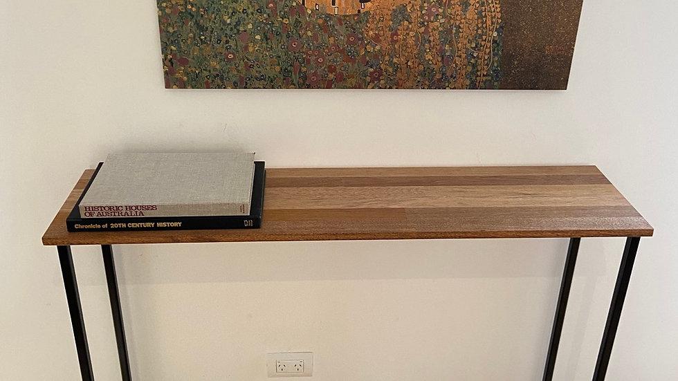 Handmade Merbau hallway table.