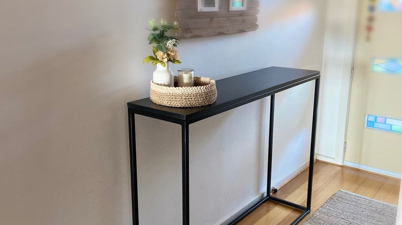 Sleek handmade hallway table (delivery free only northern suburbs Melbourne)